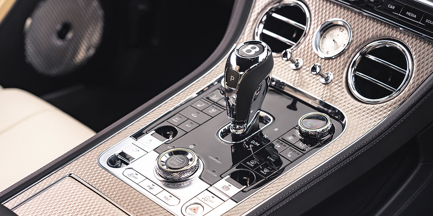 Bentley-Continental-GT-Mulliner- brushed-metal-veneer-front-console